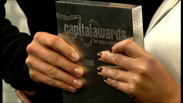 Capital Music Awards arrivals Emma Bunton and Mel C photocall holding award and interview SOT