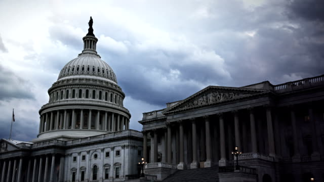 u.s. capital timelapse - united states congress stock videos & royalty-free footage