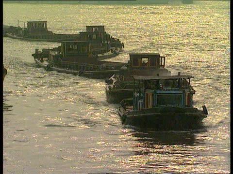 Shanghai TMS Barges along river