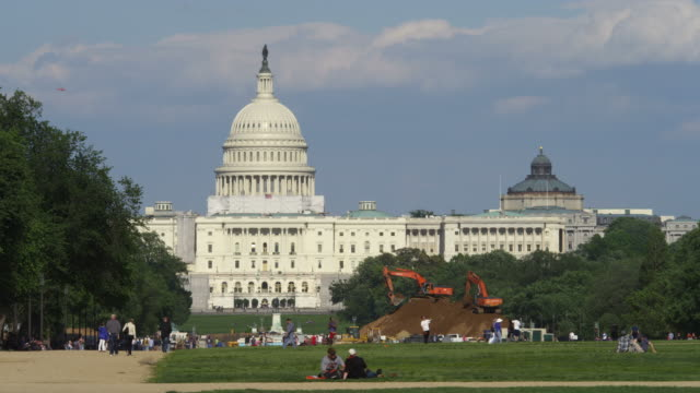 US Capitol and National Mall, excavation work in progress. Shot in May 2012.