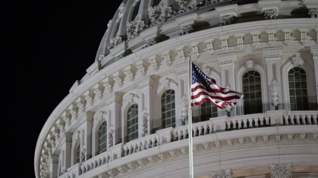 us capitol at night - capitol building washington dc stock videos & royalty-free footage