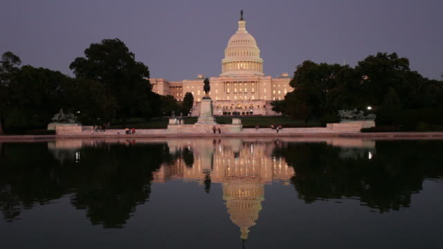 us capitol at sunset - law stock videos & royalty-free footage