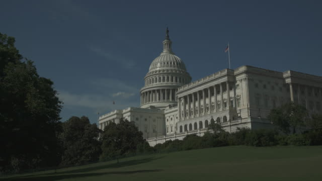 U.S. Capitol Building and House of Representatives Wide Angle in Washington, DC - Time Lapse in 4k/UHD