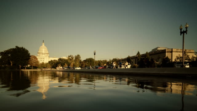 Capitol Building and Reflecting Pool in Washington D.C, USA