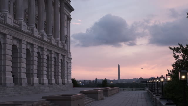 capitol building and supreme court in washington dc, u.s. on tuesday, may 29, 2018. - us supreme court building stock videos & royalty-free footage
