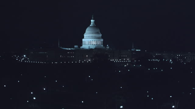 ws capitol building at night / washington d.c., united states - united states congress stock videos & royalty-free footage