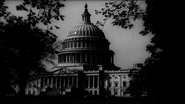 capitol building & dc memorials, 1930's - kapitol capitol hill stock-videos und b-roll-filmmaterial