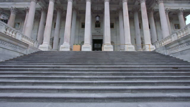 u.s. capitol building house of representatives tilt up steps in washington, dc - house of representatives stock videos & royalty-free footage