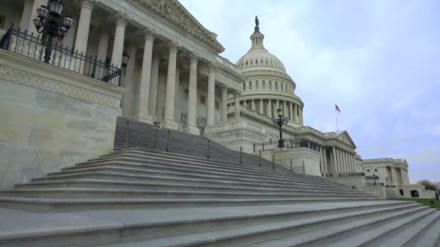u.s. capitol building house of representatives walking up steps in washington, dc - united states congress stock videos & royalty-free footage