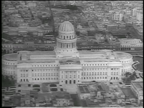 aerial capitol building in havana cuba / newsreel - 1959 stock videos & royalty-free footage