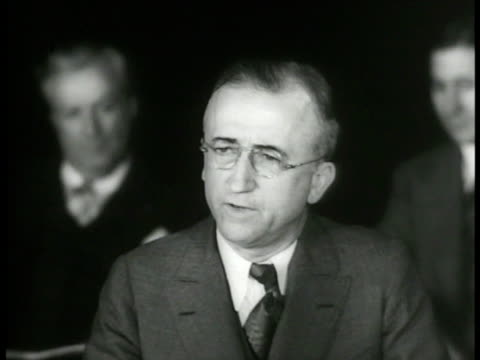 stockvideo's en b-roll-footage met capitol building int senate senator james f byrnes speaking sot saying work relief should only be billion not billion half senator pat mccarron sot... - 1937