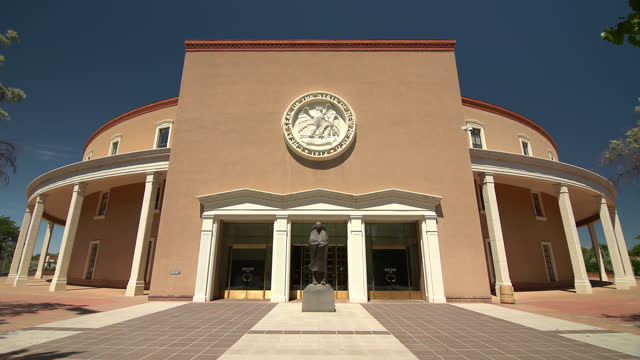 capitol building of new mexico - new mexico stock videos & royalty-free footage