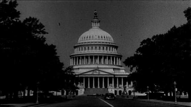 capitol building, pennsylvania avenue, 1930's - 1930 1939 stock videos & royalty-free footage