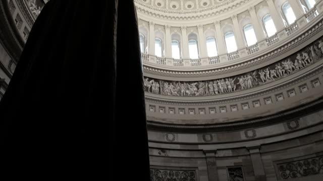 vidéos et rushes de u.s. capitol building rotunda andrew jackson à washington, dc - président
