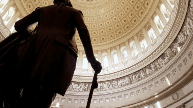 U.S. Capitol Building Rotunda George Washington in Washington, DC - 4k/UHD