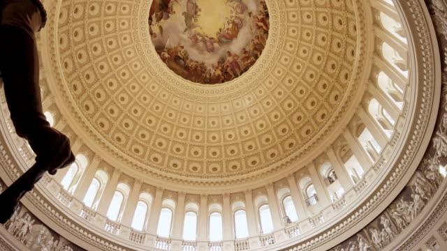 u.s. capitol building rotunda george washington in washington, dc - 4k/uhd - rotunda stock videos & royalty-free footage