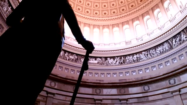 U.S. Capitol Building Rotunda George Washington in Washington, DC - Tilt Up