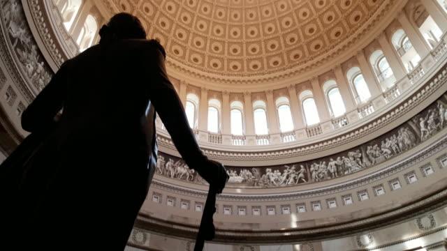 u.s. capitol building rotunda in washington, dc - 4k/uhd - rotunda stock videos & royalty-free footage