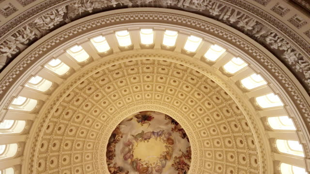 u.s. capitol building rotunda in washington, dc - 4k/uhd - united states congress stock videos & royalty-free footage