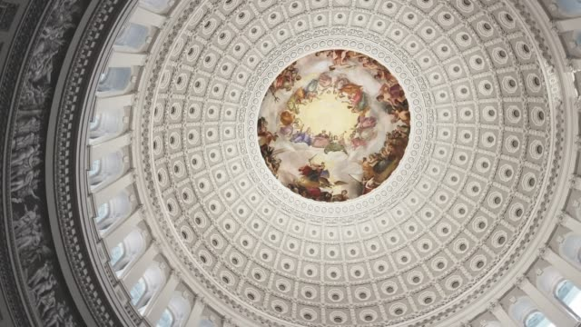 u.s. capitol building rotunda in washington, dc - pan - house of representatives stock videos & royalty-free footage