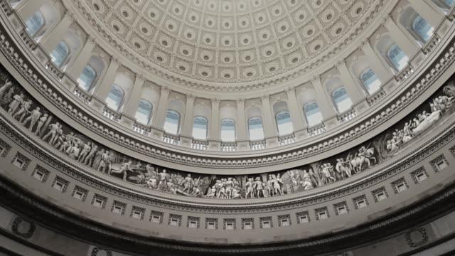 u.s. capitol building rotunda in washington, dc - tilt up - rotunda stock videos & royalty-free footage