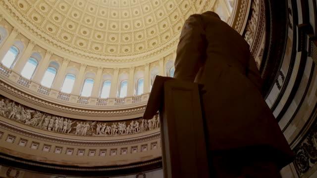 U.S. Capitol Building Rotunda James Garfield in Washington, DC - 4k/UHD