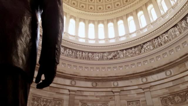 u.s. capitol building rotunda ronald reagan in washington, dc - 4k/uhd - rotunda stock videos & royalty-free footage