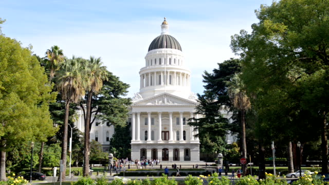 capitol building sacramento california - capital cities stock videos & royalty-free footage