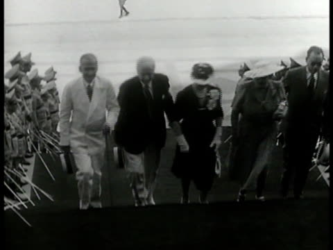 capitol building sectary of state cordell hull walking up steps w/ wife frances others int entrance hall vs delegates of organization of american... - cordell hull stock videos and b-roll footage