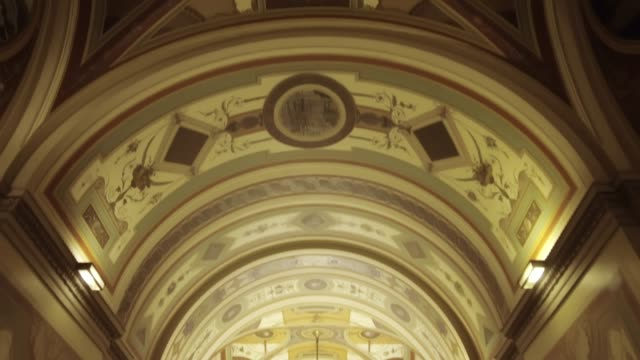u.s. capitol building senate brumidi corridor in washington, dc - united states senate stock videos & royalty-free footage