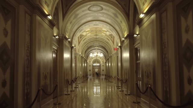 u.s. capitol building senate brumidi corridor in washington, dc - senate stock videos & royalty-free footage