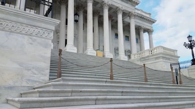 U.S. Capitol Building Senate Steps in Washington, DC - 4k/UHD