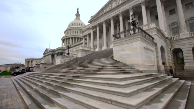 u.s. capitol building senate steps in washington, dc - house of representatives stock videos & royalty-free footage