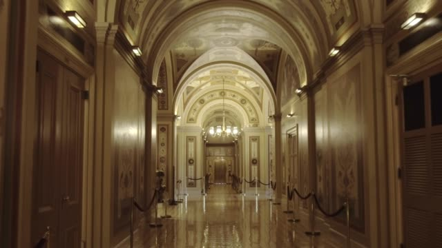 u.s. capitol building senate walking the brumidi corridor in washington, dc - senate stock videos & royalty-free footage