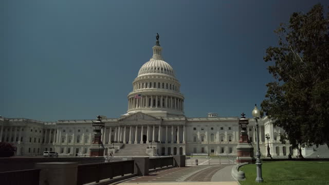 u.s. capitol building walkway in washington, dc - united states congress stock videos & royalty-free footage