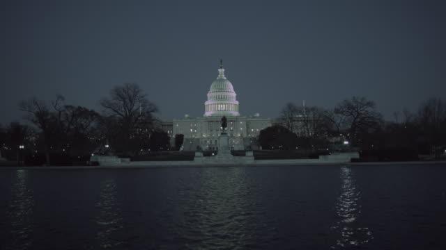 Capitol building Washington DC at night