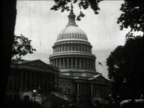 1940 ws us capitol building / washington, dc, united states - 1940 stock videos & royalty-free footage