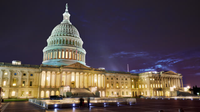 u.s. capitol building, washington, dc - united states congress stock videos & royalty-free footage