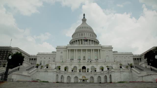 US Capitol Building västra fasad vidvinkel i Washington, DC - i 4k/UHD