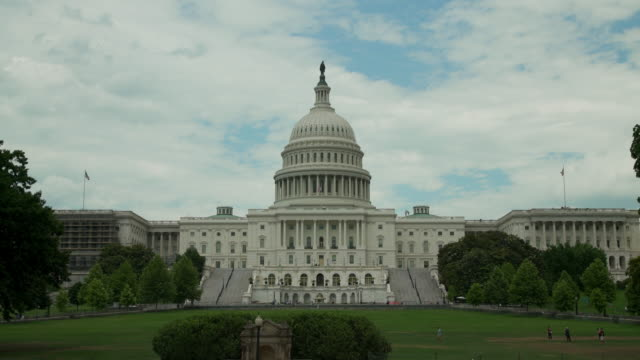 U.S. Capitol Building West Facade Wide Angle in Washington, DC - in 4k/UHD