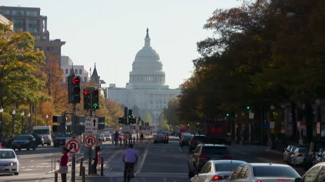 capitol hill exteriors - us senat stock-videos und b-roll-filmmaterial
