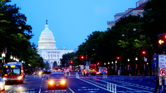 capitol hill: washington dc - la casa bianca washington dc video stock e b–roll