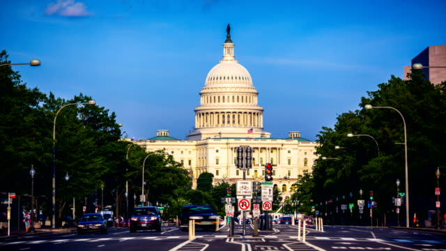 capitol hill, washington dc - house of representatives stock videos & royalty-free footage
