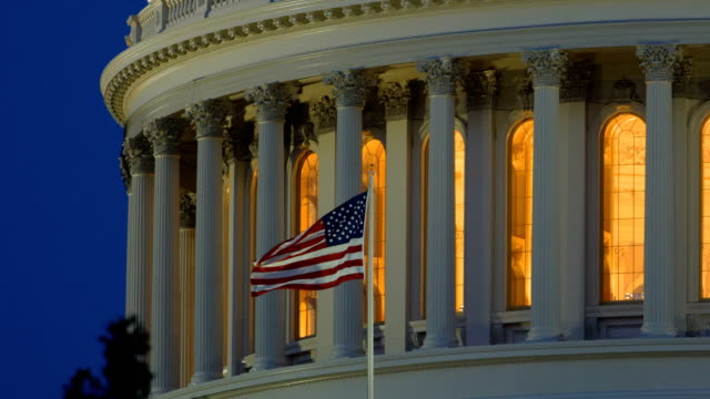 capitol hill, washington dc - governo video stock e b–roll
