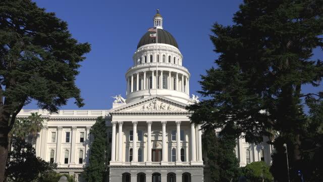 capitol of california at sacramento - united states senate stock videos & royalty-free footage