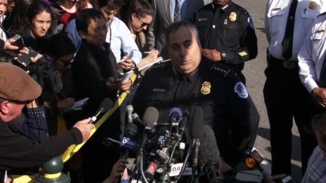 us capitol police chief matthew verderosa tells news media two hours after a shooting incident between an armed suspect and police in the capitol... - police chief stock videos and b-roll footage