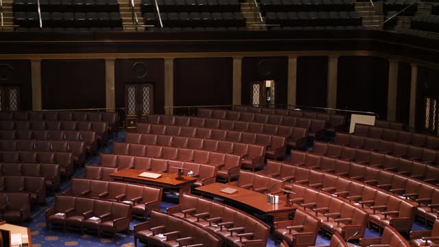 capitol security general views; usa: washington dc: us capitol building: int gvs empty house of representatives chamber - congress stock videos & royalty-free footage