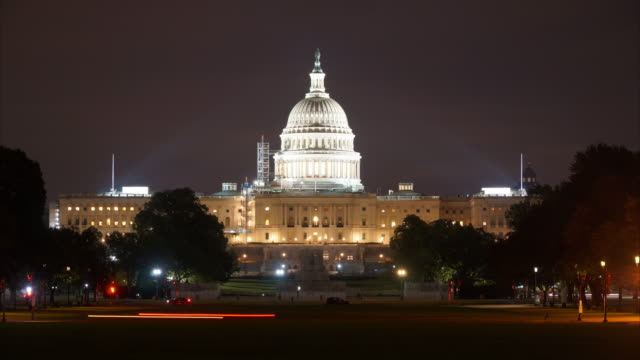 US Capitol - Washington DC at Night 4K