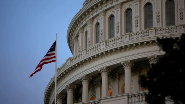 us-kapitol in washington, dc - united states congress stock-videos und b-roll-filmmaterial