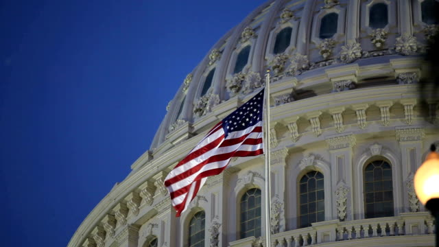 us capitol, washington dc - flag stock videos & royalty-free footage